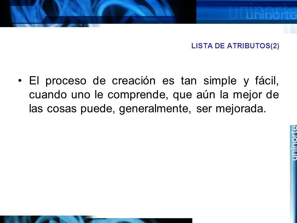 LISTA DE ATRIBUTOS(2)
