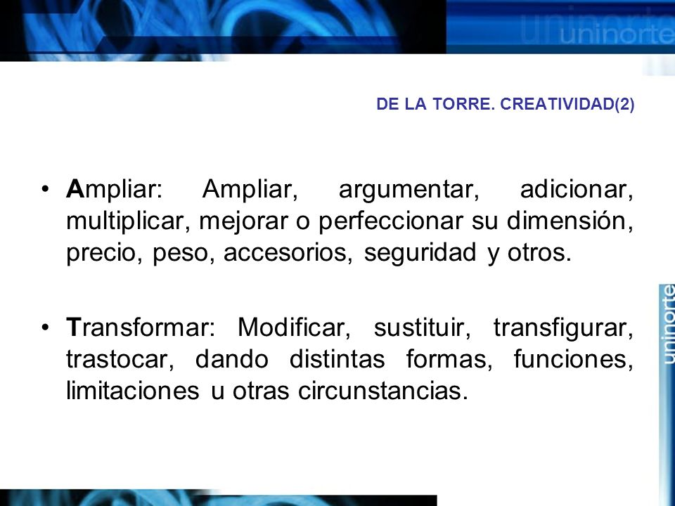 DE LA TORRE. CREATIVIDAD(2)