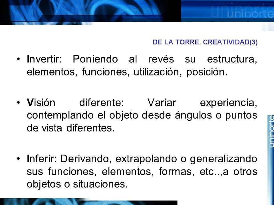 DE LA TORRE. CREATIVIDAD(3)