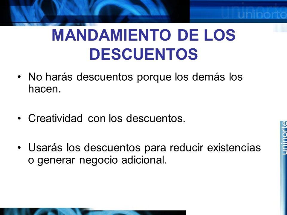 MANDAMIENTO DE LOS DESCUENTOS