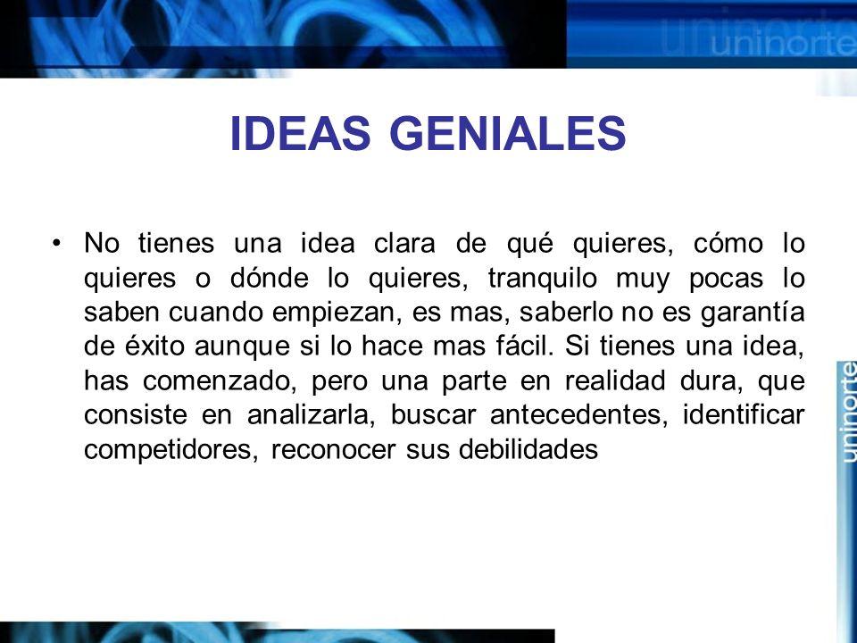 IDEAS GENIALES