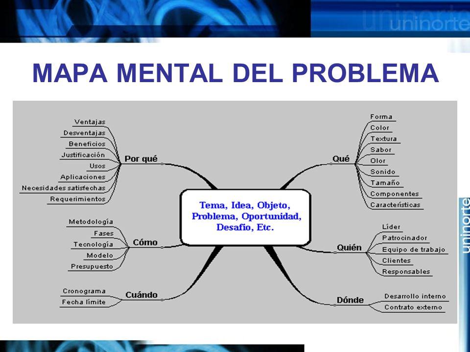 MAPA MENTAL DEL PROBLEMA