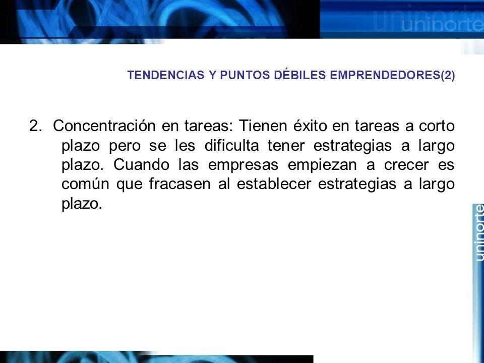 TENDENCIAS Y PUNTOS DÉBILES EMPRENDEDORES(2)