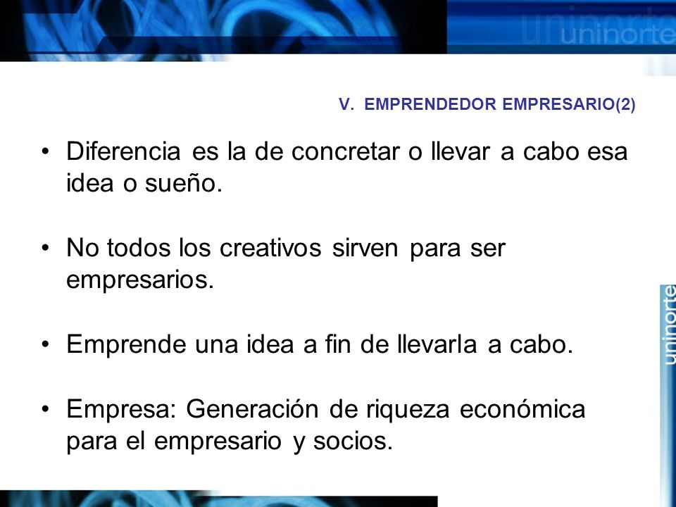 V. EMPRENDEDOR EMPRESARIO(2)
