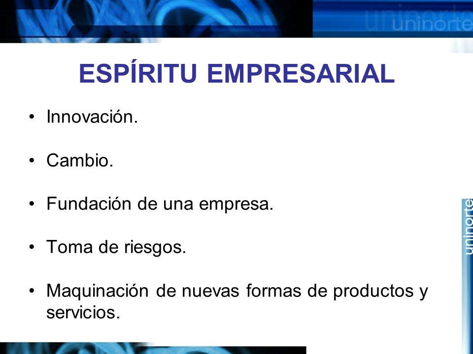 ESPÍRITU EMPRESARIAL Innovación. Cambio. Fundación de una empresa.