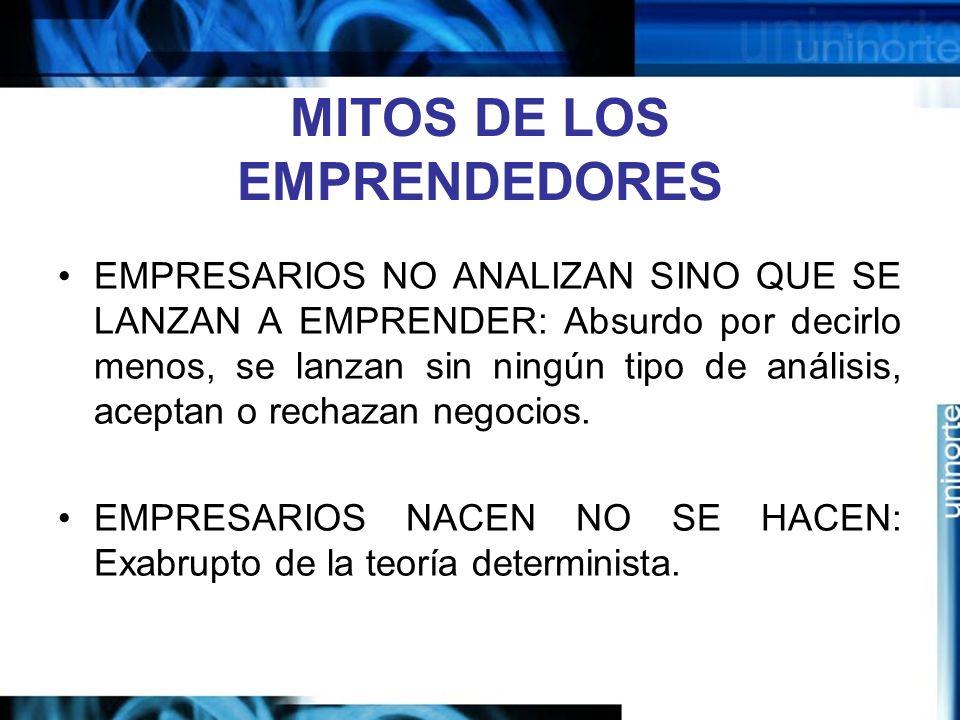 MITOS DE LOS EMPRENDEDORES
