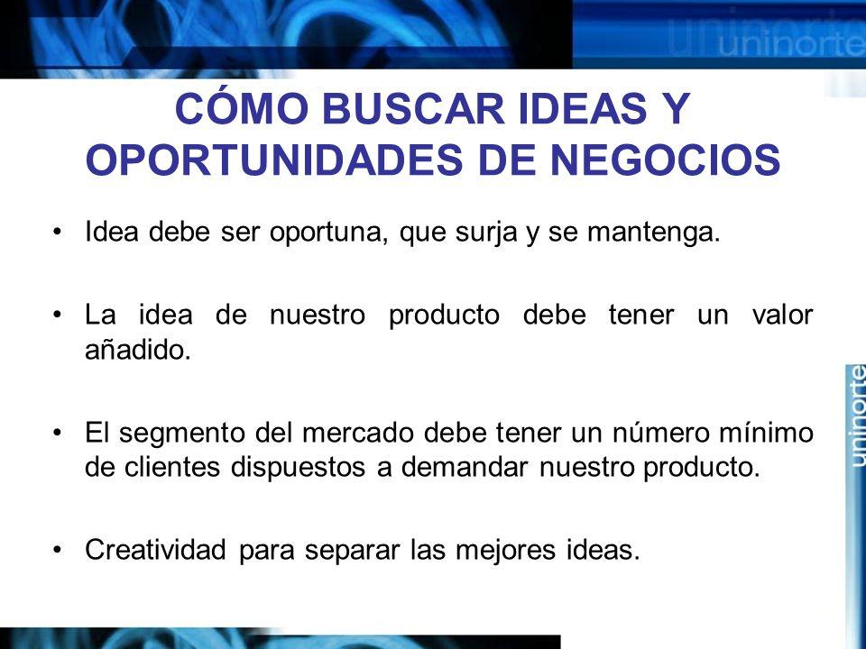 CÓMO BUSCAR IDEAS Y OPORTUNIDADES DE NEGOCIOS