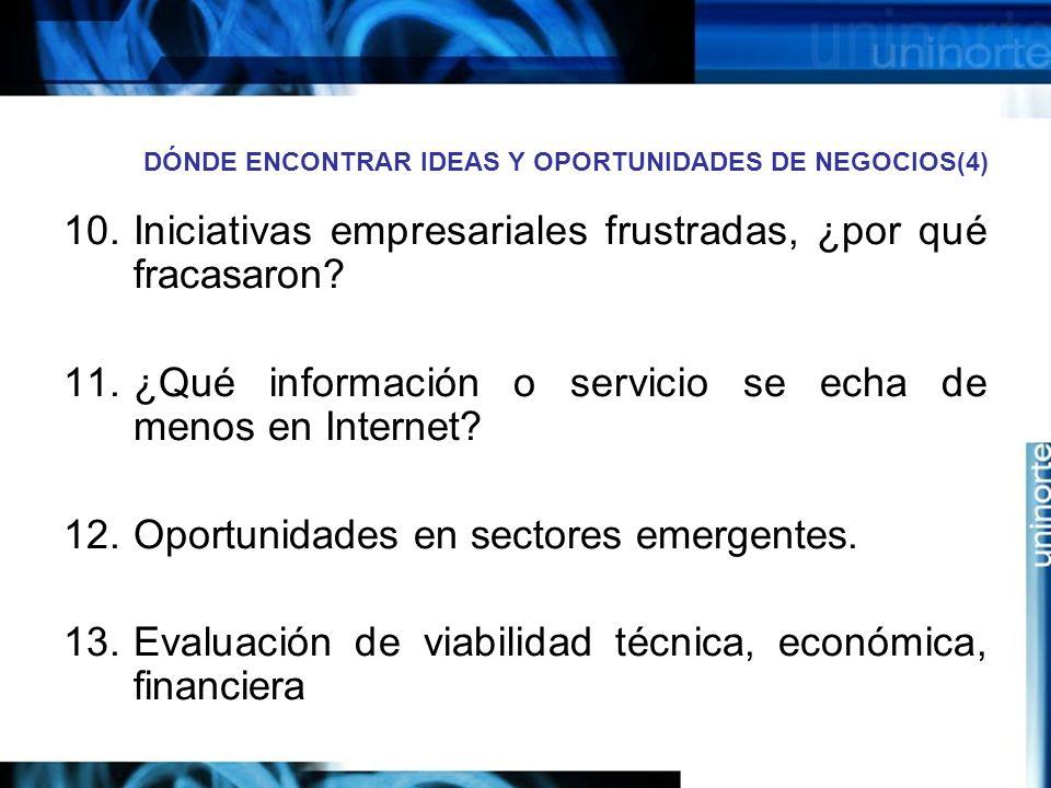 DÓNDE ENCONTRAR IDEAS Y OPORTUNIDADES DE NEGOCIOS(4)
