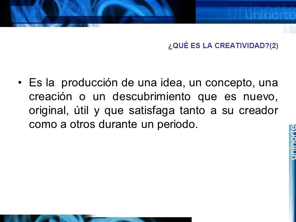 ¿QUÉ ES LA CREATIVIDAD (2)