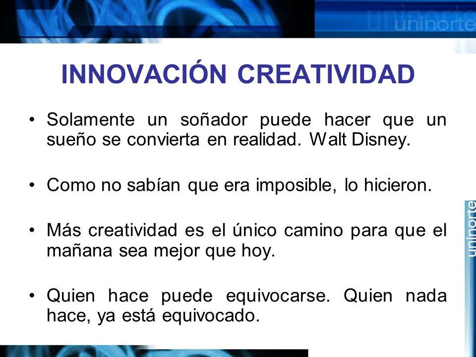 INNOVACIÓN CREATIVIDAD