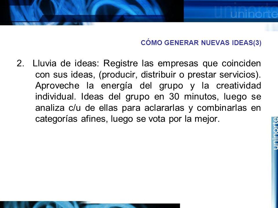 CÓMO GENERAR NUEVAS IDEAS(3)