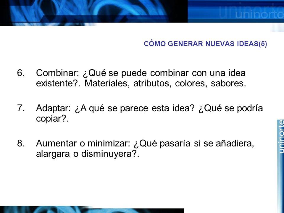 CÓMO GENERAR NUEVAS IDEAS(5)