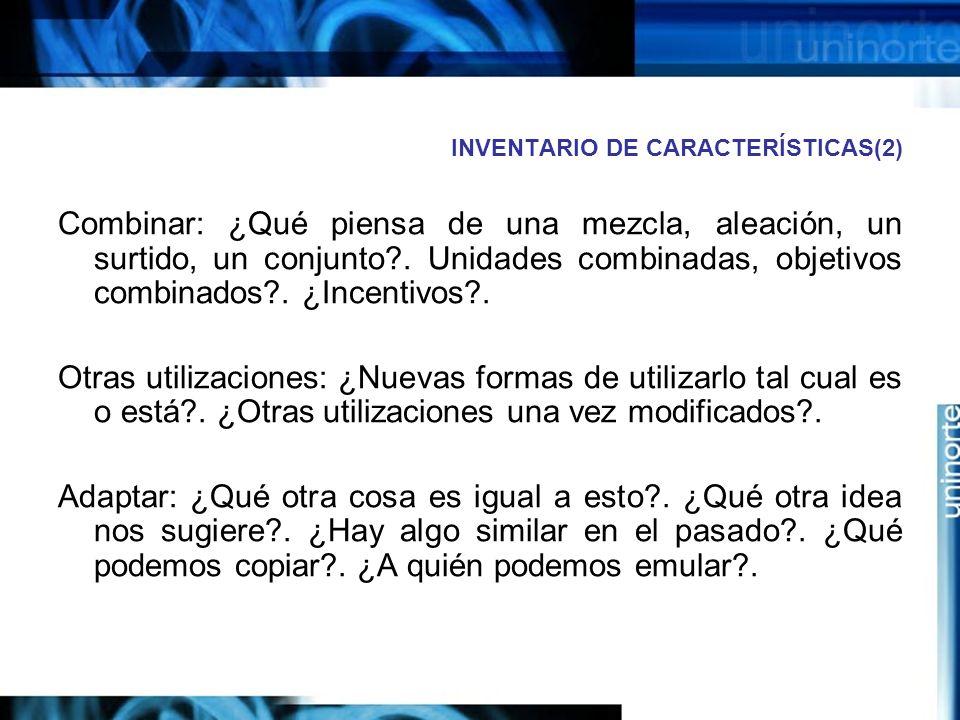 INVENTARIO DE CARACTERÍSTICAS(2)