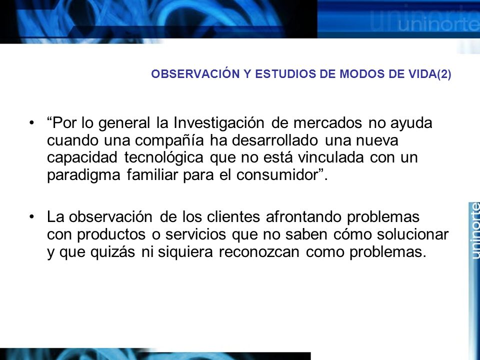 OBSERVACIÓN Y ESTUDIOS DE MODOS DE VIDA(2)