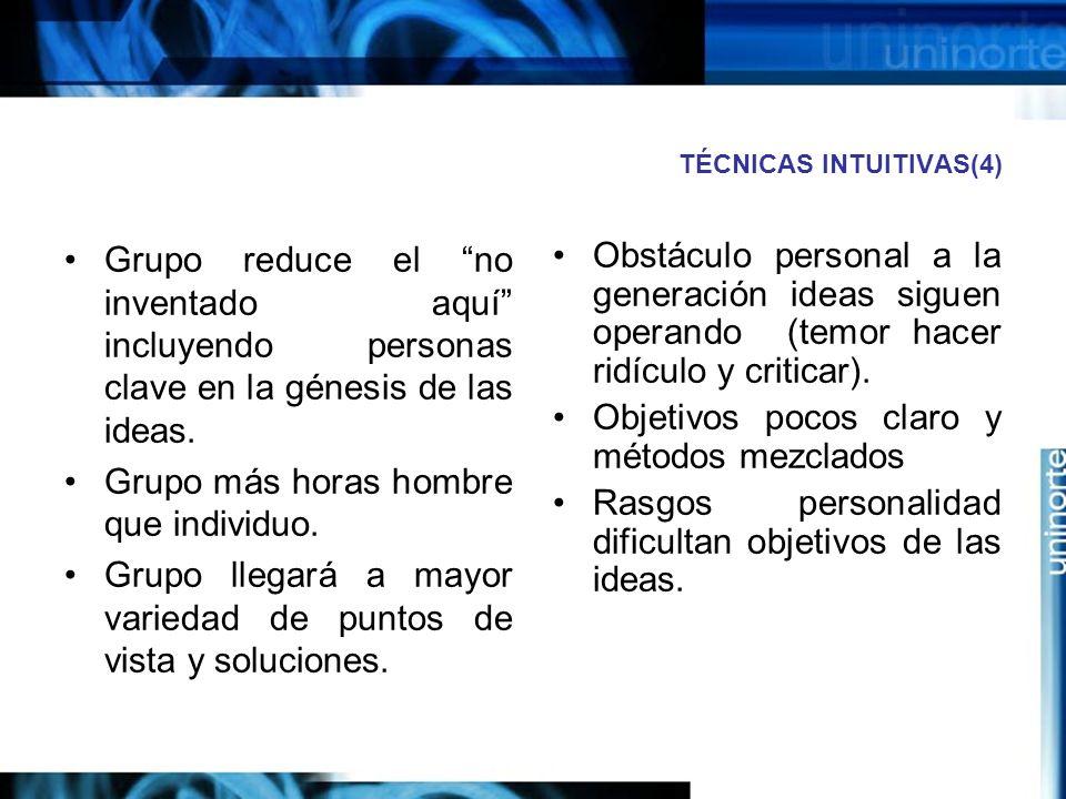 TÉCNICAS INTUITIVAS(4)