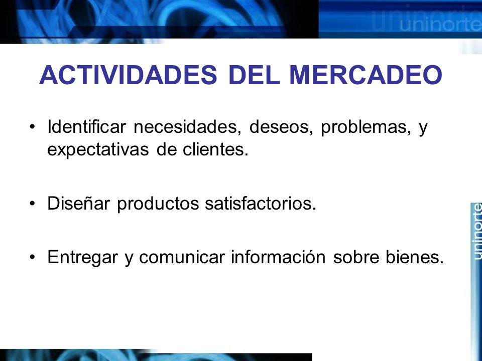 ACTIVIDADES DEL MERCADEO