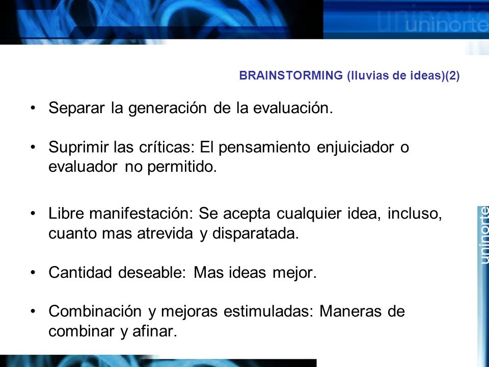 BRAINSTORMING (lluvias de ideas)(2)