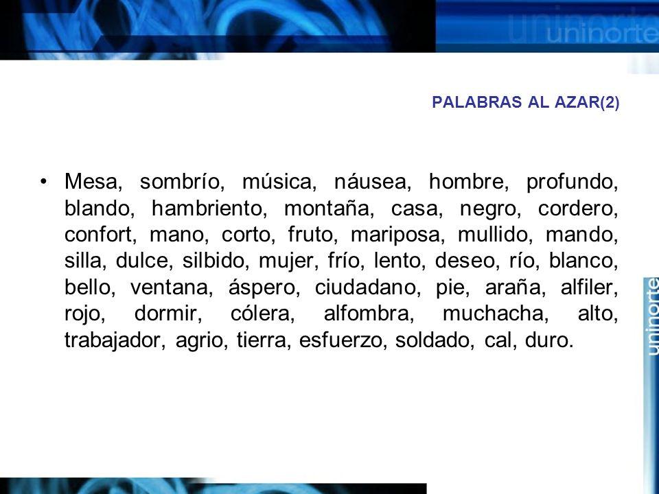 PALABRAS AL AZAR(2)