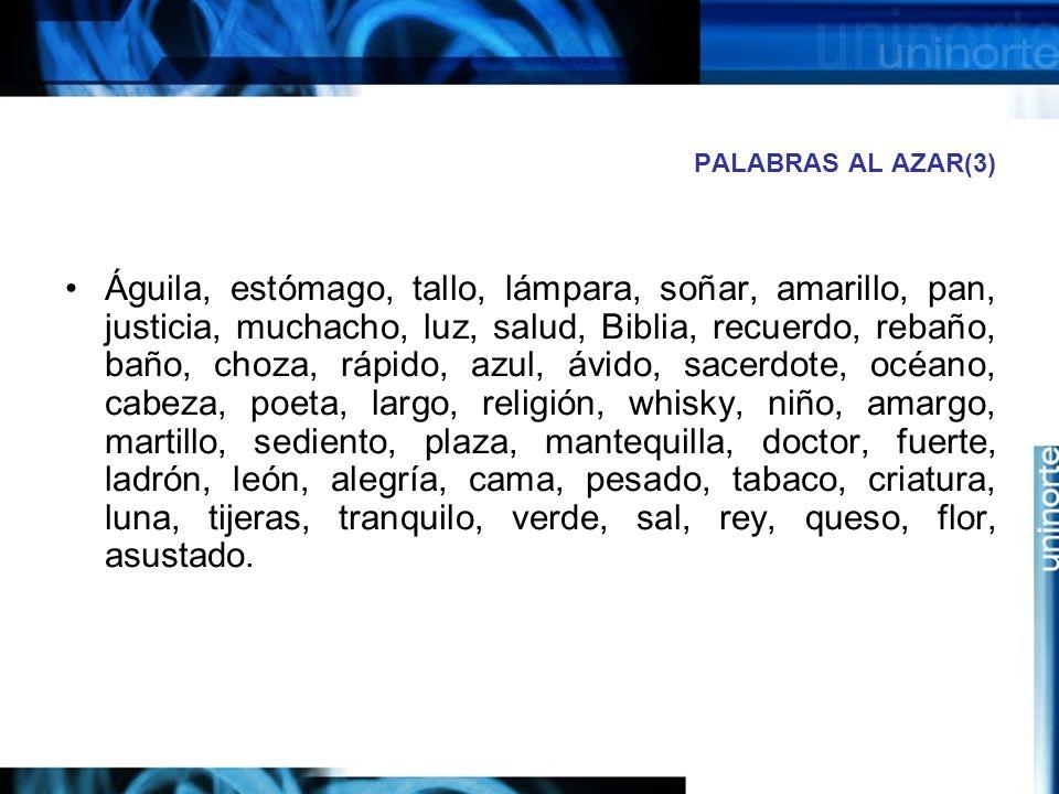 PALABRAS AL AZAR(3)