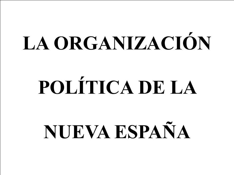 LA ORGANIZACIÓN POLÍTICA DE LA NUEVA ESPAÑA