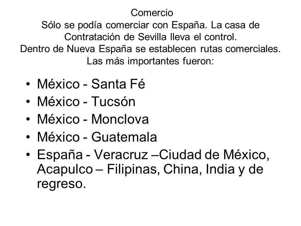México - Santa Fé México - Tucsón México - Monclova México - Guatemala