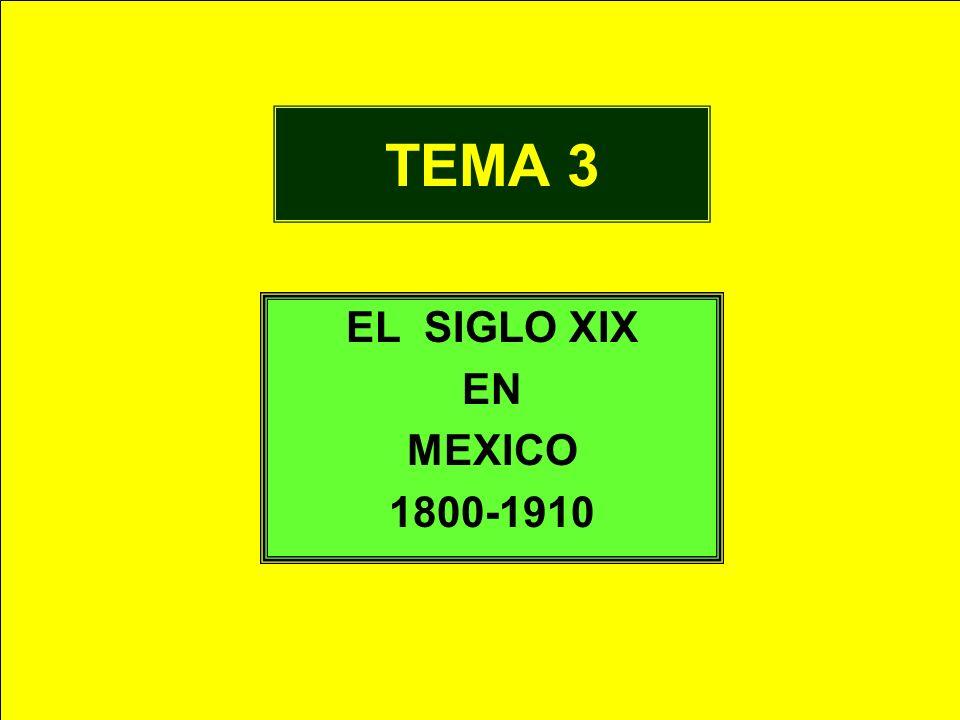 TEMA 3 EL SIGLO XIX EN MEXICO 1800-1910