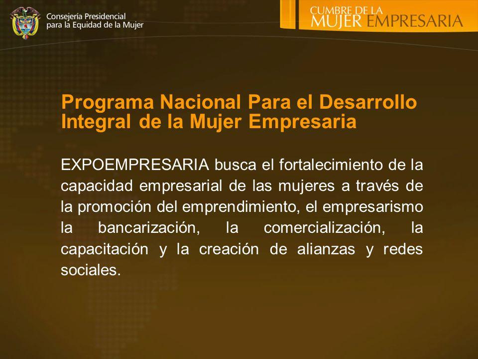 Programa Nacional Para el Desarrollo Integral de la Mujer Empresaria