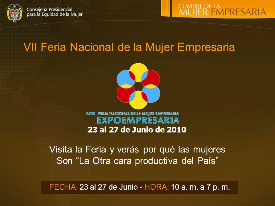 VII Feria Nacional de la Mujer Empresaria