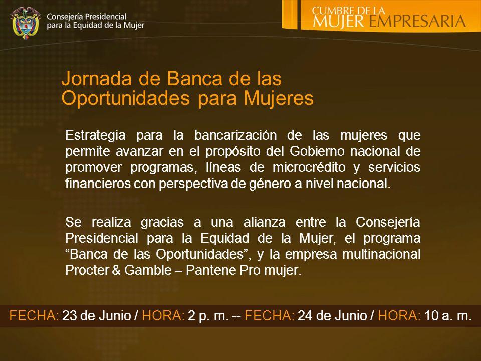 Jornada de Banca de las Oportunidades para Mujeres