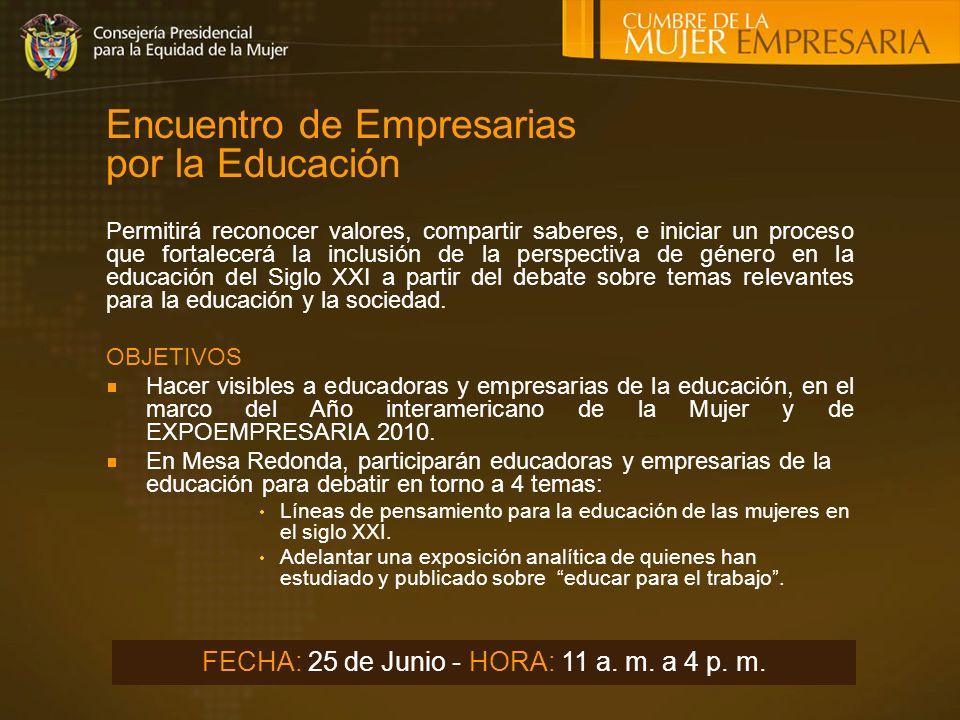 Encuentro de Empresarias por la Educación