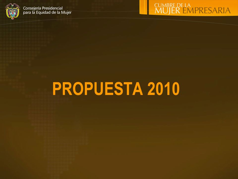 PROPUESTA 2010