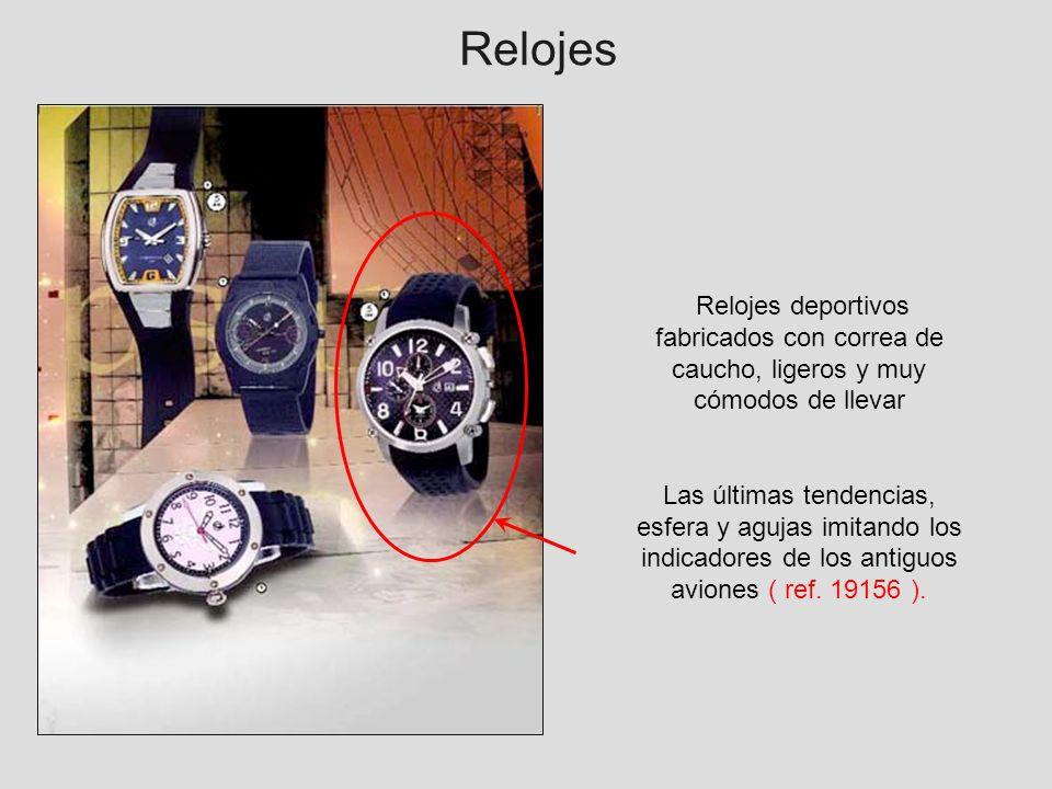 RelojesRelojes deportivos fabricados con correa de caucho, ligeros y muy cómodos de llevar.