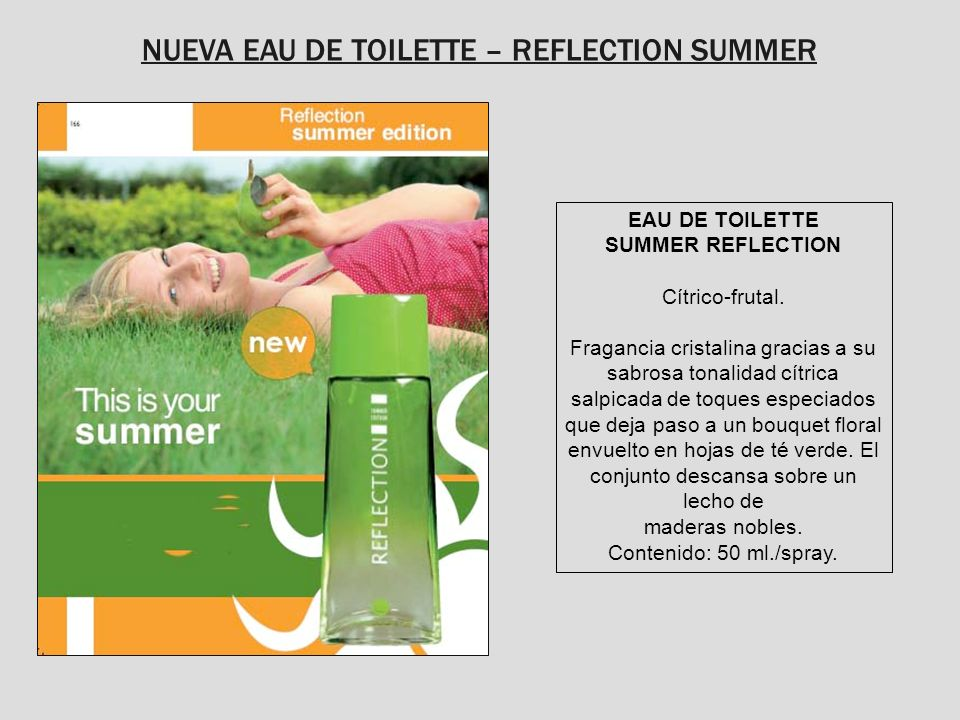 NUEVA EAU DE TOILETTE – REFLECTION SUMMER