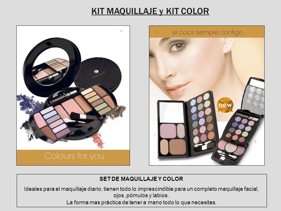 KIT MAQUILLAJE y KIT COLOR