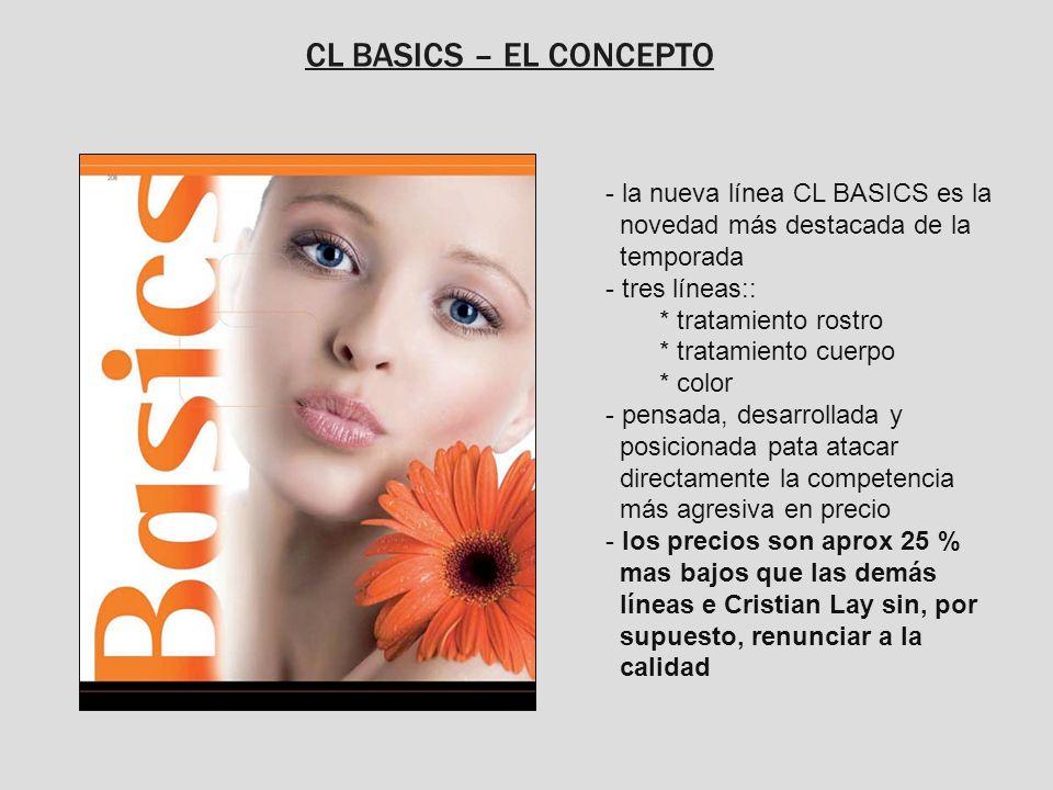 CL BASICS – EL CONCEPTO- la nueva línea CL BASICS es la novedad más destacada de la temporada.
