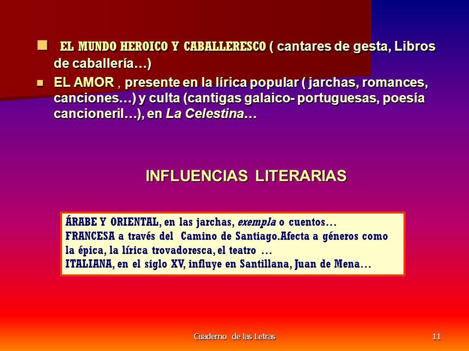EL MUNDO HEROICO Y CABALLERESCO ( cantares de gesta, Libros de caballería…)