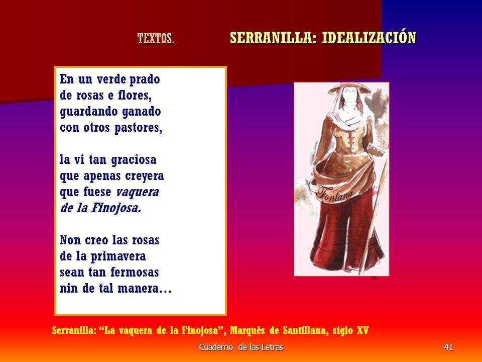TEXTOS. SERRANILLA: IDEALIZACIÓN