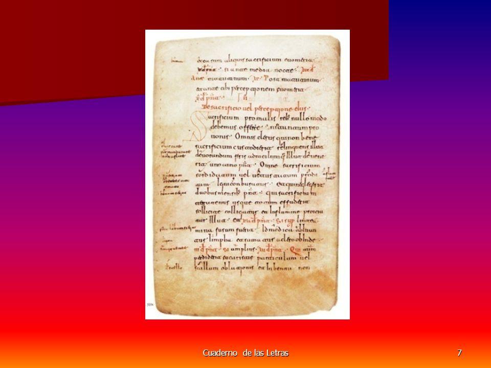Cuaderno de las Letras