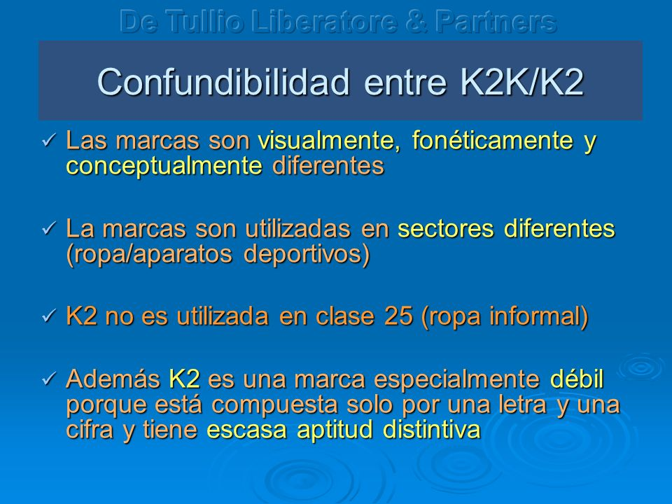 Confundibilidad entre K2K/K2