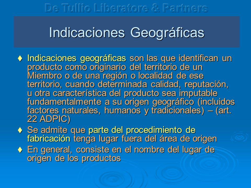 Indicaciones Geográficas