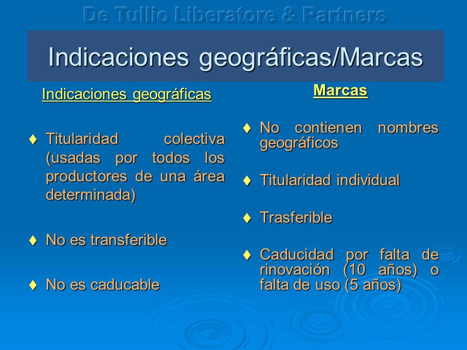 Indicaciones geográficas/Marcas