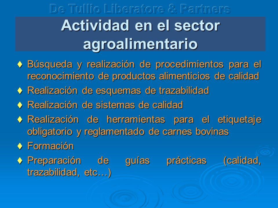Actividad en el sector agroalimentario