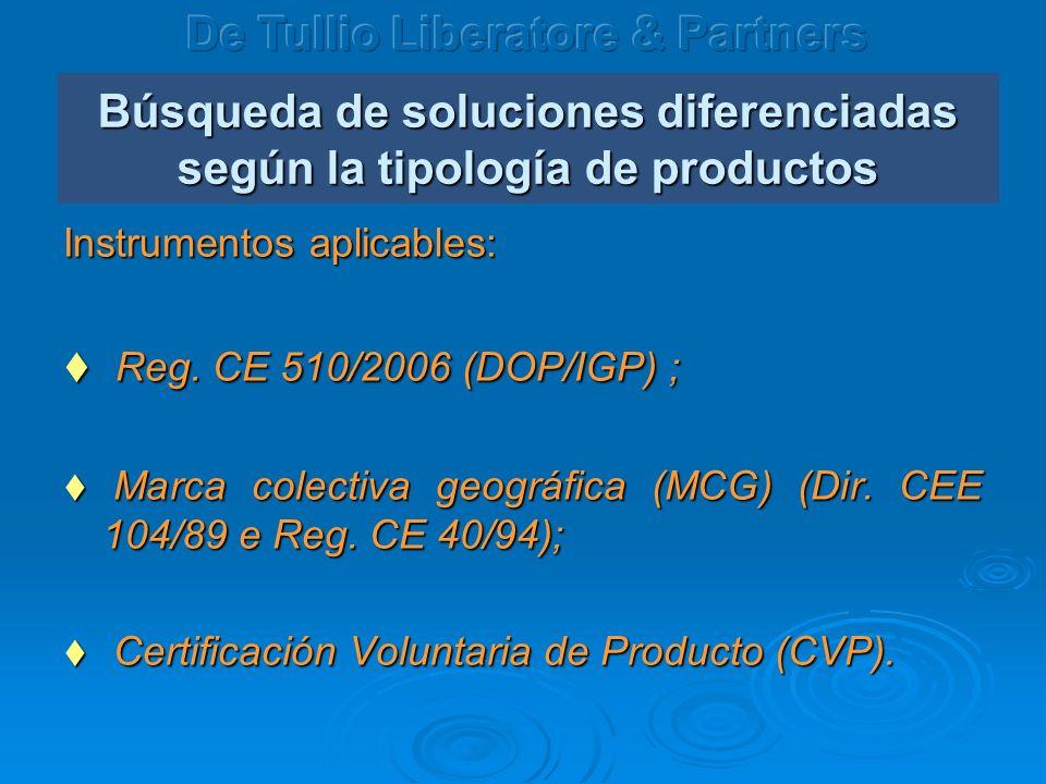 Búsqueda de soluciones diferenciadas según la tipología de productos