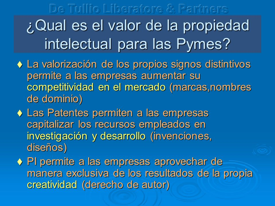 ¿Qual es el valor de la propiedad intelectual para las Pymes