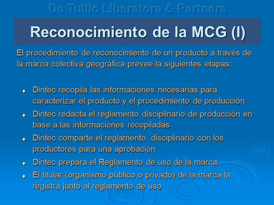 Reconocimiento de la MCG (I)