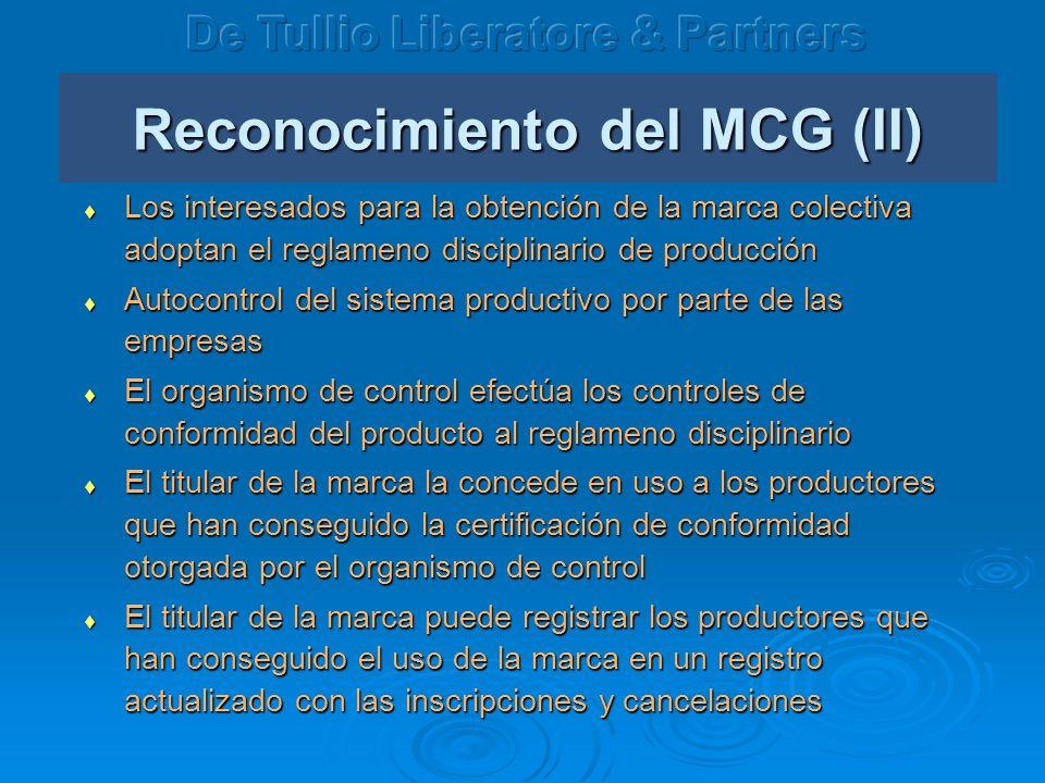 Reconocimiento del MCG (II)