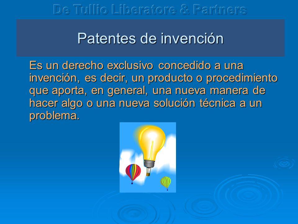 Patentes de invención De Tullio Liberatore & Partners