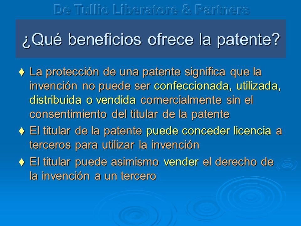 ¿Qué beneficios ofrece la patente