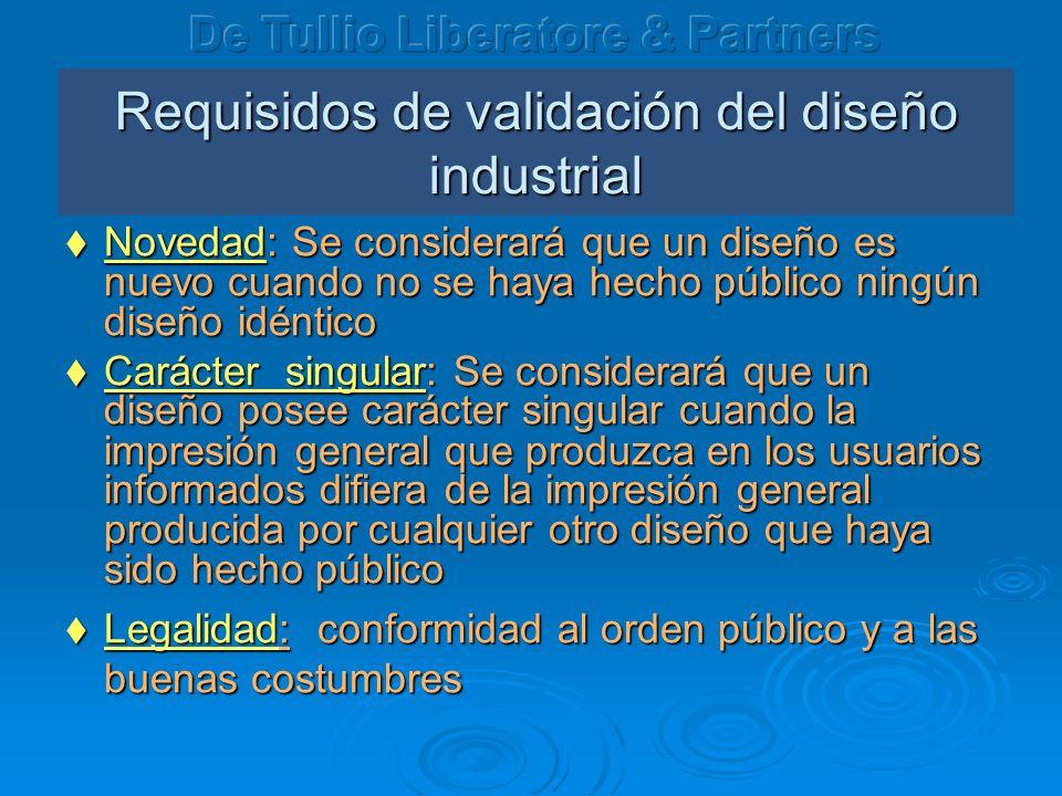 Requisidos de validación del diseño industrial