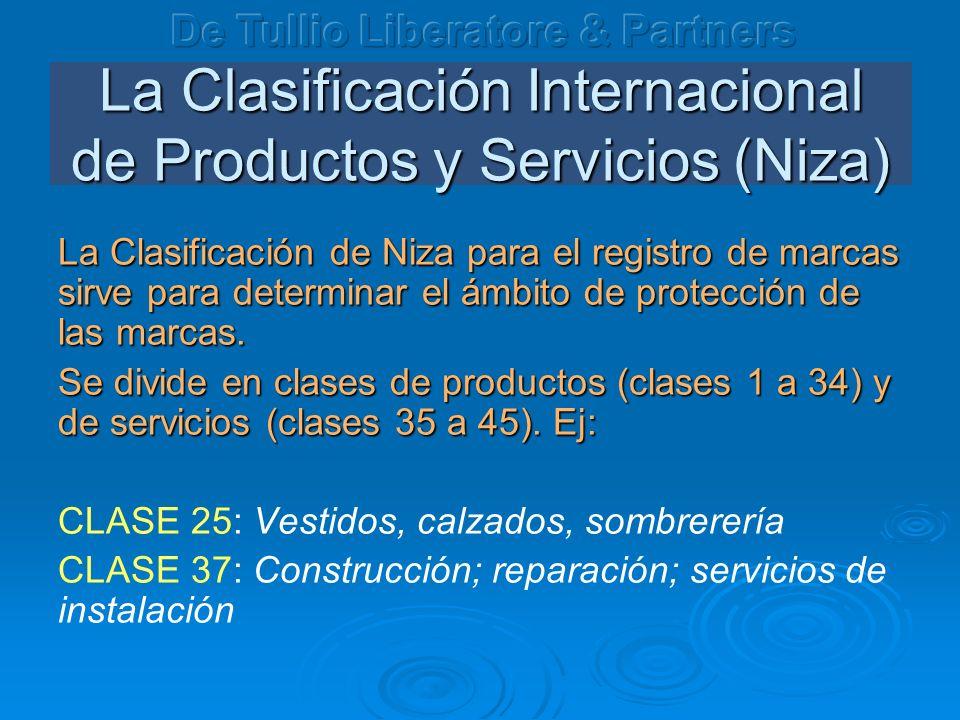 La Clasificación Internacional de Productos y Servicios (Niza)